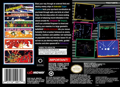 Arcade's Greatest Hits: The Atari Collection 1 - Box - Back