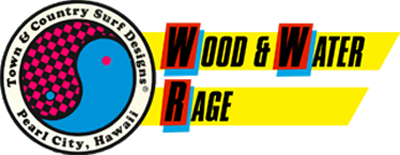 Town & Country Surf Designs: Wood & Water Rage - Clear Logo
