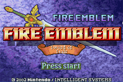 Fire Emblem: Fuuin no Tsurugi - Screenshot - Game Title