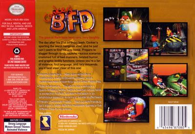 Conker's Bad Fur Day - Box - Back