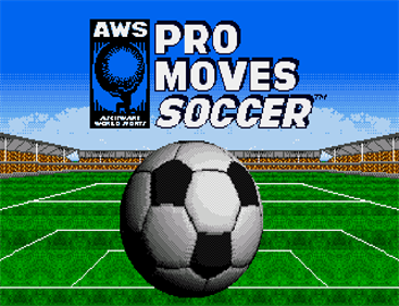AWS Pro Moves Soccer - Screenshot - Game Title