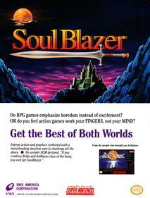 Soul Blazer - Advertisement Flyer - Front