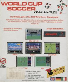 Rick Davis's World Trophy Soccer - Box - Back