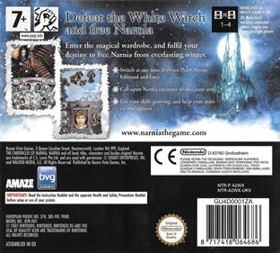 The Chronicles of Narnia: The Lion, the Witch and the Wardrobe - Box - Back