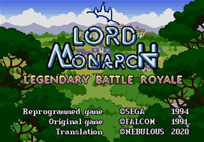Lord Monarch: Tokoton Sentou Densetsu - Screenshot - Game Title