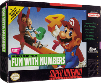 Mario's Early Years: Fun with Numbers - Box - 3D