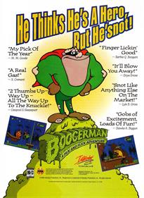 Boogerman: A Pick and Flick Adventure - Advertisement Flyer - Front