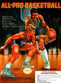 All-Pro Basketball - Advertisement Flyer - Front