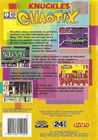 Knuckles' Chaotix - Box - Back