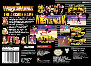 WWF WrestleMania: The Arcade Game - Box - Back