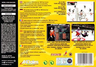 NHL Breakaway 99 - Box - Back