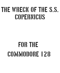 The Wreck of the S.S. Copernicus - Fanart - Box - Front