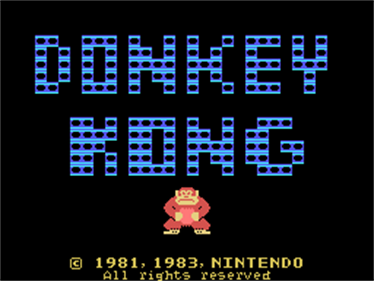 Donkey Kong - Screenshot - Game Title