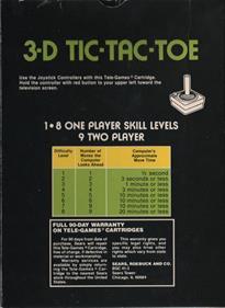 3-D Tic-Tac-Toe - Box - Back