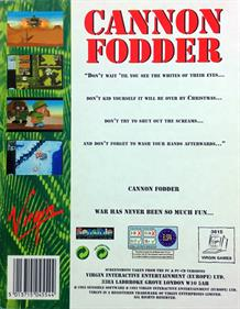 Cannon Fodder - Box - Back