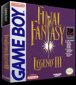 Final Fantasy Legend III - Box - 3D