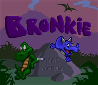 Bronkie the Bronchiasaurus - Screenshot - Game Title
