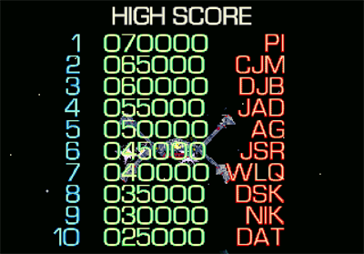 DarXide - Screenshot - High Scores
