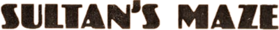 Sultan's Maze - Clear Logo