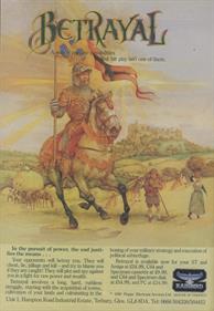Betrayal - Advertisement Flyer - Front
