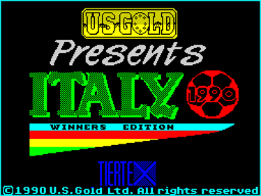 Italy 1990: Winners Edition - Screenshot - Game Title