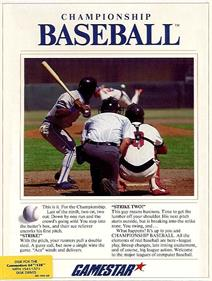 Championship Baseball