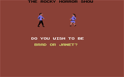 The Rocky Horror Picture Show - Screenshot - Game Select