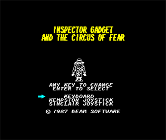 Inspector Gadget and the Circus of Fear - Screenshot - Game Select