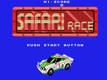 Safari Race - Screenshot - Game Title