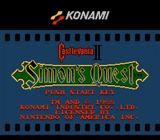 Castlevania II: Simon's Quest - Screenshot - Game Title