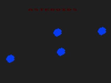 Asteroids - Screenshot - Game Title