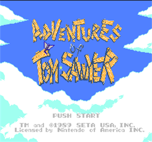 Adventures of Tom Sawyer - Screenshot - Game Title