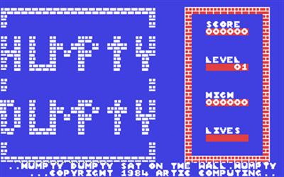 Humpty Dumpty meets the Fuzzy Wuzzies - Screenshot - Game Title