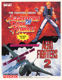 Aero Fighters 2 - Advertisement Flyer - Front