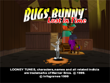 Bugs Bunny: Lost in Time - Screenshot - Game Title