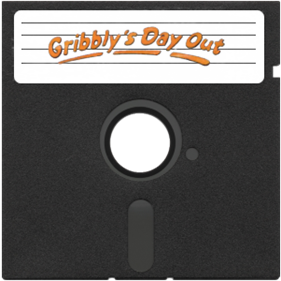 Gribbly's Day Out - Fanart - Disc