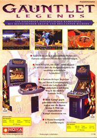 Gauntlet Legends - Advertisement Flyer - Front