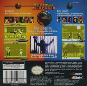 Mortal Kombat & Mortal Kombat II - Box - Back
