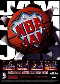 NBA Jam - Advertisement Flyer - Front