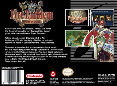 Fire Emblem: Thracia 776 - Fanart - Box - Back
