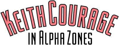 Keith Courage in Alpha Zones - Clear Logo