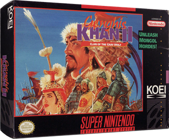 Genghis Khan II: Clan of the Gray Wolf - Box - 3D