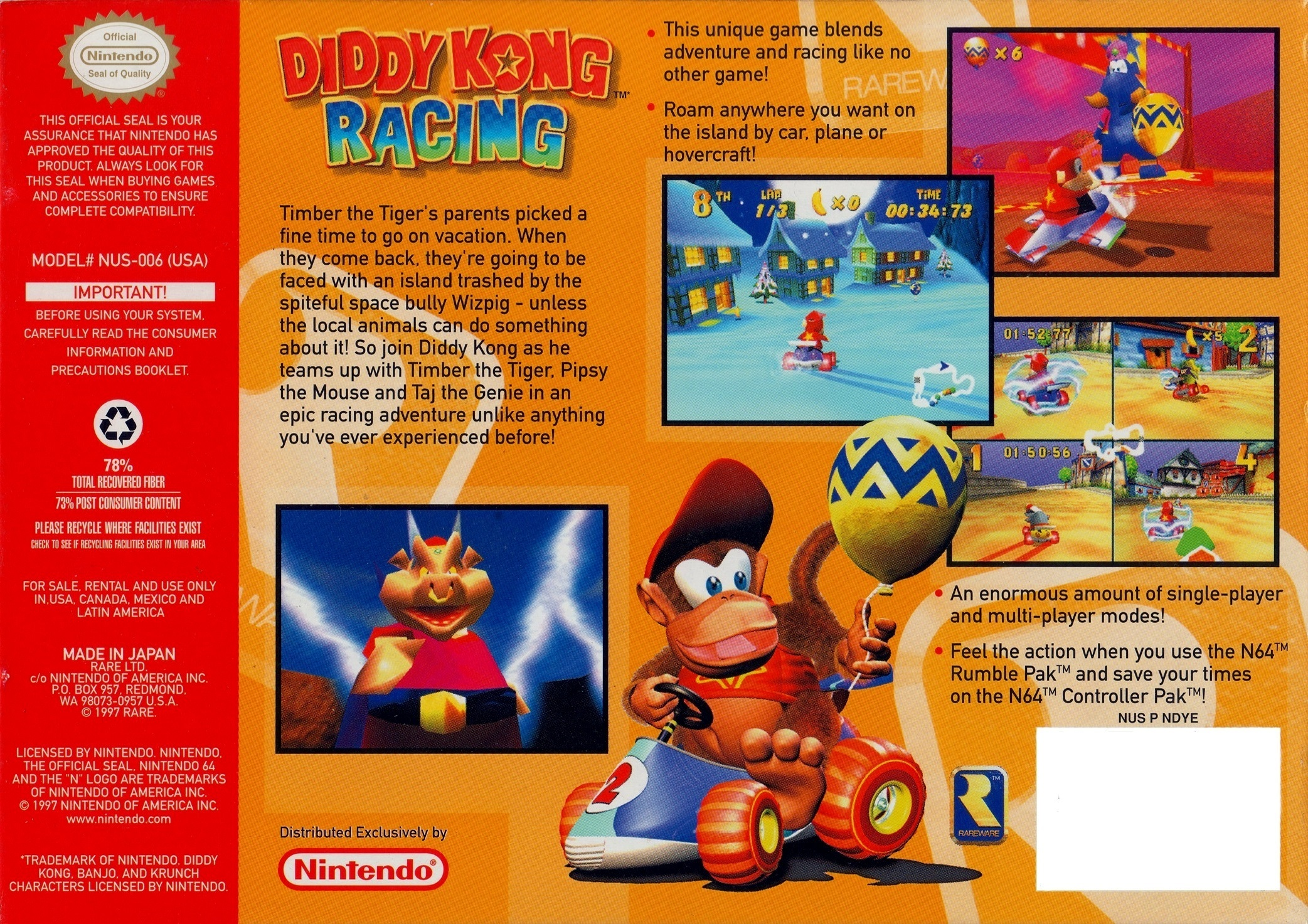 Diddy Kong Racing Details Launchbox Games Database