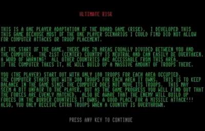 Ultimate Risk - Screenshot - Gameplay