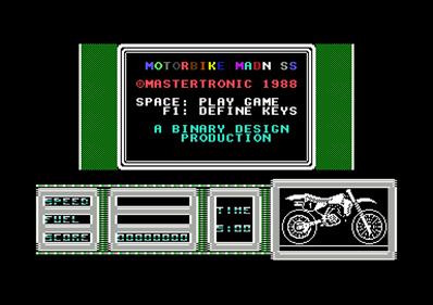 Motorbike Madness - Screenshot - Game Title