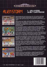 Alien Storm - Box - Back
