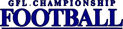 GFL Championship Football - Clear Logo