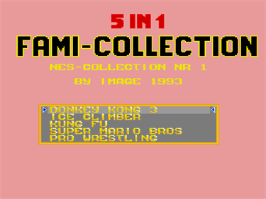5-in-1 Fami Collection: NES Collection NR 1 - Screenshot - Game Title