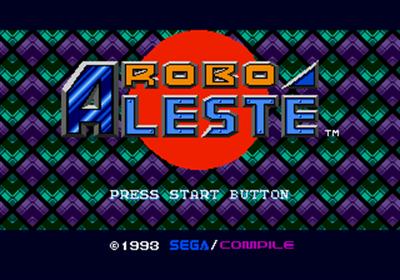 Robo Aleste - Screenshot - Game Title