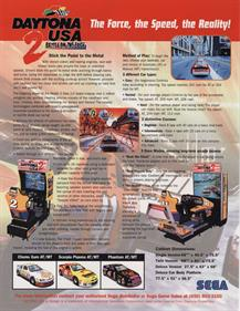 Daytona USA 2: Battle on the Edge - Advertisement Flyer - Back